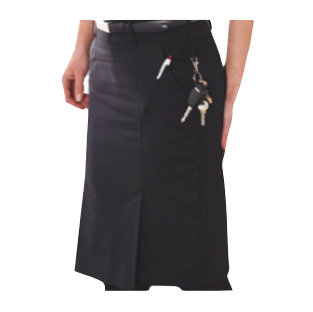 Ladies Navy Pleat Skirt - Click to enlarge picture.