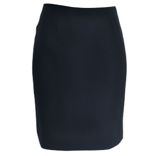 Ladies Navy Knee Skimming Skirt - Click to enlarge picture.