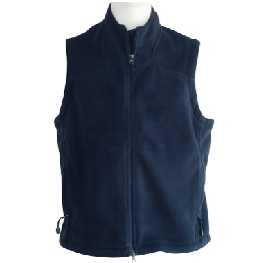 Navy Micro-fleece Vest - Click to enlarge picture.