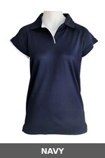 Ladies Cottonrich Polo Cap Sleeve - Click to enlarge picture.