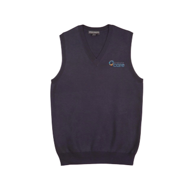 Navy Knitted Vest - Click to enlarge picture.