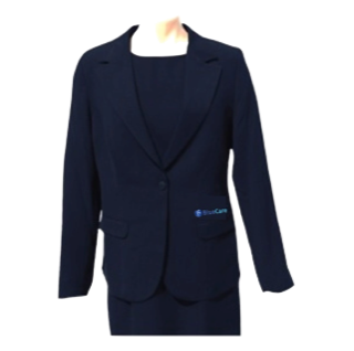 Navy Single Button Jacket - Click to enlarge picture.