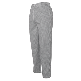 Black/White Check Chef Pants - Click to enlarge picture.