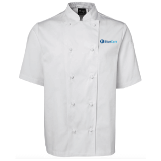 Unisex White Chef Jacket Short Sleeve - Click to enlarge picture.
