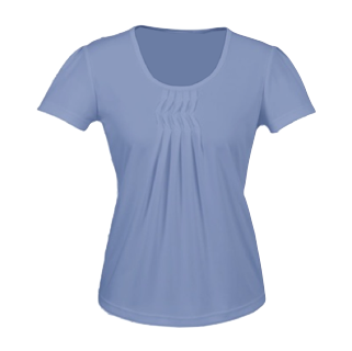 Blue Ruffle Top - Click to enlarge picture.