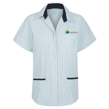 Reef Stripe 3 Pocket Short Sleeve Blouse - Click to enlarge picture.