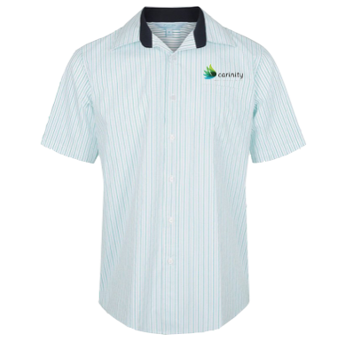 Reef Stripe Short Sleeve Business Shirt - Click to enlarge picture.