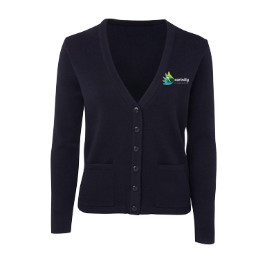 Navy Wool-Blend Cardigan - Click to enlarge picture.