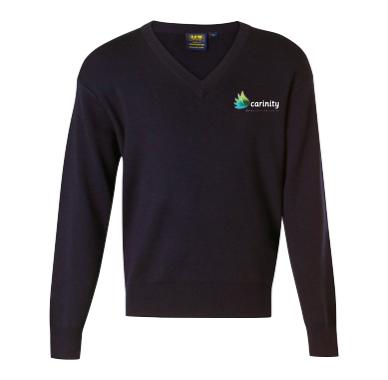 Navy Woolen Pullover - Click to enlarge picture.