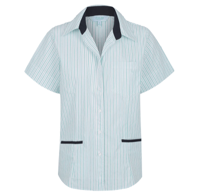 Ladies Reef Pin Stripe 3 Pocket Blouse Short Sleeve