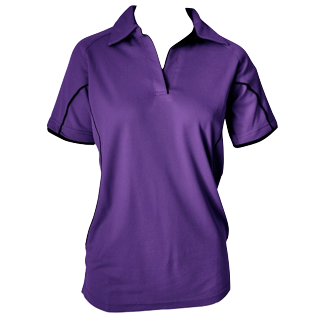 Purple Cottonrich Polo Short Sleeve - Click to enlarge picture.