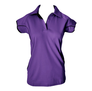 Purple Cottonrich Polo Cap Sleeve - Click to enlarge picture.
