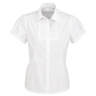 White Berlin Short Sleeve Blouse - Click to enlarge picture.