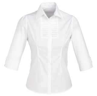White Berlin Blouse 3/4 Sleeve - Click to enlarge picture.