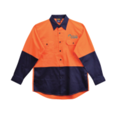 Hi-Vis Long Sleeve Drill Shirt - Click to enlarge picture.