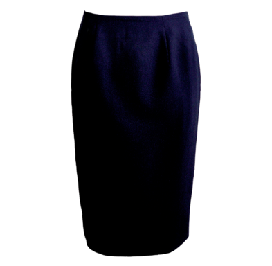 Navy Mid-length Skirt - Click to enlarge picture.