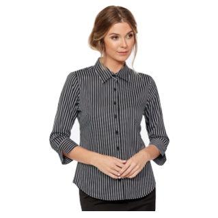 Bold Stripe 3/4 Blouse - Click to enlarge picture.