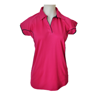 Ladies Lipstick Cottonrich Polo Cap Sleeve