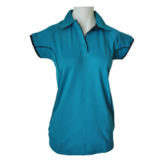 Ladies Reef Cottonrich Polo Cap Sleeve - Click to enlarge picture.