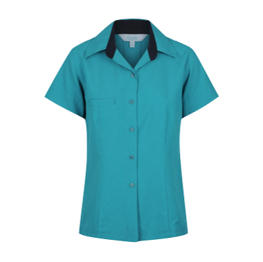 Ladies Short Sleeve Reef Comfort Blouse
