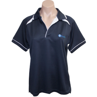 Navy Short Sleeve Polo - Click to enlarge picture.