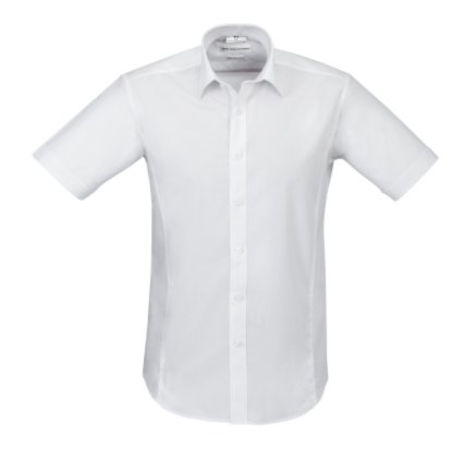 Mens Short Sleeve White Berlin Shirt - Click to enlarge picture.