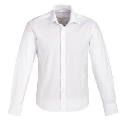 Mens Long Sleeve White Berlin Shirt - Click to enlarge picture.