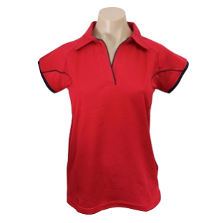 Ladies Fire Cottonrich Cap Sleeve Polo