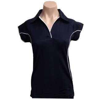 Ladies Navy Cottonrich Cap Sleeve
