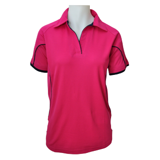 Ladies Lipstick Cottonrich Polo Short Sleeve - Click to enlarge picture.