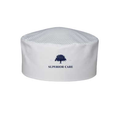 White Chef Hat Vented