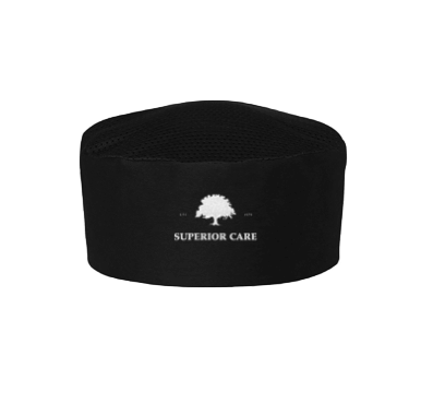 Black Chef Hat Vented