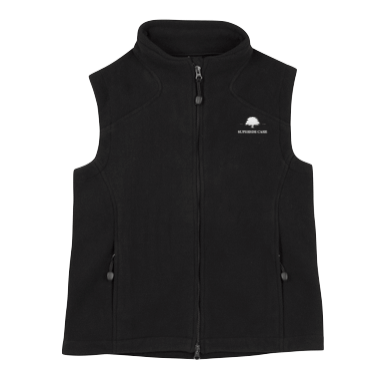 Black Micro-fleece Vest - Click to enlarge picture.