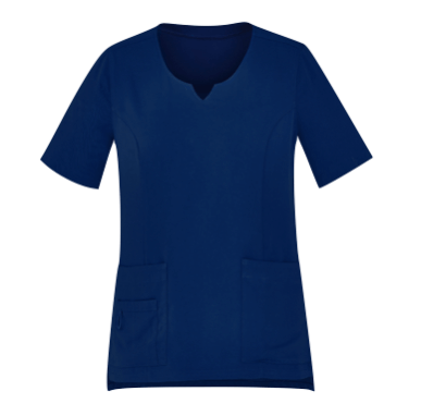 Tailored Fit Round Neck Scrub Top